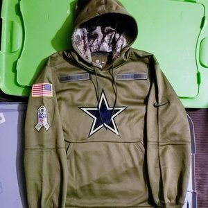 buy online 7c146 27aff Dallas Cowboys Nike NFL Salute to Service hoodie NWT